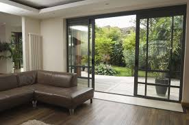 patio sliding glass doors stylish open up sliding glass doors near brown leather sofa set at living room