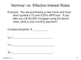 ppt nominal vs effective interest rates powerpoint nominal vs effective interest rates