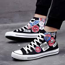 <b>LAISUMK</b> Graffiti Canvas Shoes – Pricemans