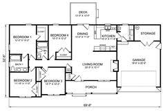 images about House plans on Pinterest   Ranch house plans    Learn more at s media cache ak  pin com  middot  BedroomRanchHouse Plans