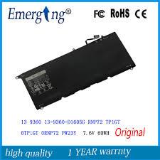 7.6V 60Wh <b>New Original Laptop</b> Battery for DELL XPS 13 9360 ...