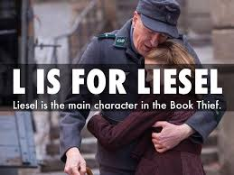 a is for awareness by holycross h87 l is for liesel liesel is the main character in the book thief