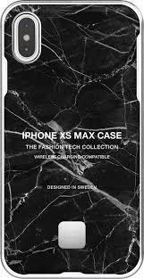 <b>Клип</b>-<b>кейс Happy Plugs для</b> Apple iPhone XS Max Black Marble ...