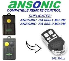 2019 <b>ANSONIC SA 868 1</b>,2 Mini/M Compatible Remote Control ...