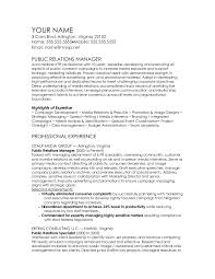 public relations manager cv template pr resume template