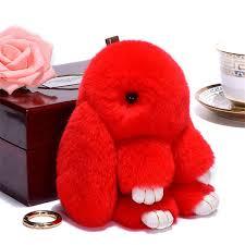 <b>15cm</b> Cute <b>Bunny Keychain Rabbit Fur</b> Chains <b>For</b> Women ...