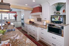 style kitchen cabinets white hood countertop fieldstone cabinets white paint on mdf door french country style kitch