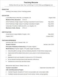 sample teaching resume format template resume format and sample