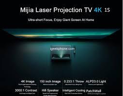 Xiaomi <b>Mijia 1S 4K</b> Cinema <b>Laser Projector</b> in Just $1899.99