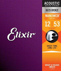 Acoustic 80/<b>20 Bronze</b> with NANOWEB Coating   Elixir® Strings