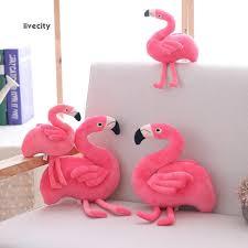 LiveCity Cute <b>Simulation Flamingo</b> Stuffed Plush Toy Soft Bird Doll ...