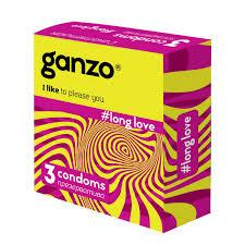 <b>Презервативы Ganzo</b>, <b>long</b> love с анестетиком 3 шт