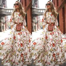 Online Shop <b>Women's Maxi Boho Dress</b> Floral Summer Beach ...
