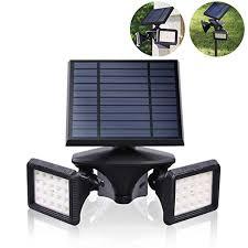 Dual-Head <b>LED</b> Wall Pack, <b>IP65</b> Solar Wall Light <b>Waterproof</b>, 6000K ...