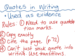 writing an expository essay using quotes in writing