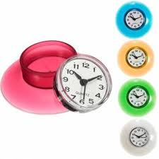 small bathroom clock: pcs bathroom waterproof mini wall clock resistant timer suction cupchina mainland