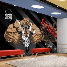 <b>Milofi custom wallpaper</b> mural black <b>background</b> bodybuilding bear ...