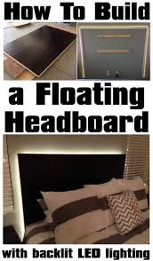 floating headboard with led lighting build easy diy lighting