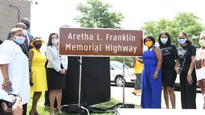 Portions of Lodge Freeway named <b>Aretha Franklin</b> Memorial Highway