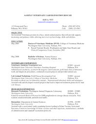veterinary thesis sample resume cover letter veterinarian veterinary resumes cover letter veterinary assistant template example resume and cover letter