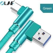 <b>OLAF Type C</b> Cable 2.4A Fast Charging 90 Degree Elbow USB ...