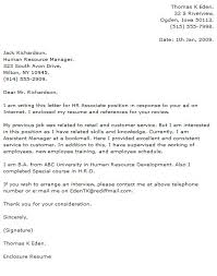 Entry Level Cover Letter Example   skills and abilities resume example