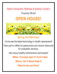 aqus news marsh chiropractic wellness center s open house daniel marsh