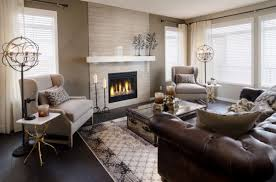 give your living room a chic look with a brown leather based sofa photo chic living room leather