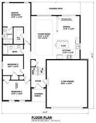 CANADIAN HOME DESIGNS   Custom House Plans  Stock House Plans    Narrow raised bungalow CANADIAN HOME DESIGNS   Custom House Plans  Stock House Plans  amp  Garage