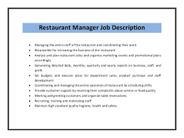 restaurant manager job description   resumeseed comresume examples rn clinical director resume sample  restaurant manager job description sample