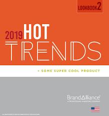 BrandAlliance US <b>2019 Hot</b> Trends Lookbooks 1+2 by ...