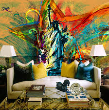 liberty bedroom wall mural: a large mural wallpaper wallpaper retro style personality meters in coffee hall room wallpaper mural painted