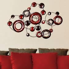 mirror wall decor circle panel: stratton home decor red metallic circles wall decor