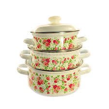 <b>Набор эмалированной посуды</b> ЛЗЭП Китайская роза 124/4АП2 ...