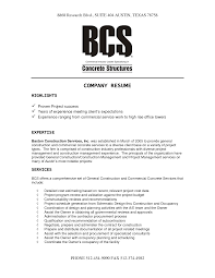 construction company resume template construction company resume