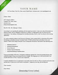 cover letter example internship elegant sample resume for an internship