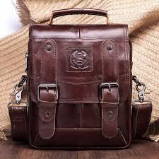 men <b>genuine leather messenger bag</b> shoulder bag handbags at ...