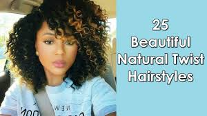 Natural Twist Hairstyles 25 Most Beautiful Natural Twist Hairstyles For African Women Youtube