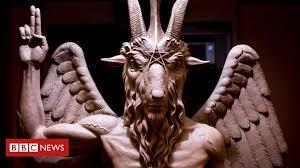 Decoding the symbols on <b>Satan's</b> statue - BBC News