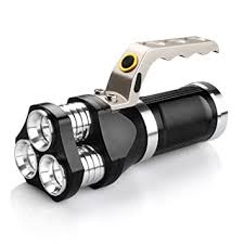 Anglewolf Super Bright Hand held <b>LED</b> Torch Heavy Duty <b>USB</b> ...