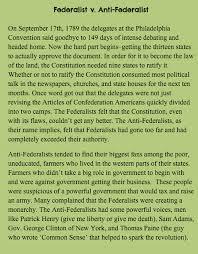 federalists and anti federalists mrs perkins classroom federalists and anti federalists