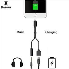 2 in 1 Audio Adapter, <b>Baseus</b> L35, Multifunctional <b>Lightning Male</b> to ...