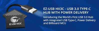 EZ-<b>USB</b>® HX3C: <b>USB</b> 3.0 <b>Type</b>-<b>C Hub</b> with Power Delivery