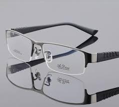 <b>Pure titanium Business</b> style Men Full rimless <b>Eyeglasses Frames</b> ...