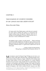 the violence of courtly exegesis in sir gawain and the green inside
