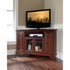 crosley lafayette corner tv stand in mahogany kf10006bma the home depot bedroom furniture corner units