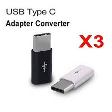 <b>3Pcs Mini USB</b> 3.1 Type C Male to <b>Micro USB</b> Female <b>Adapter</b> ...
