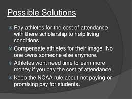 Paying college athletes