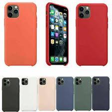 Luxury Genuine <b>Silicone Case For</b> Apple iPhone 11 iPhone 11 Pro ...
