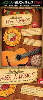 mexican restaurant ad flyer template on behance